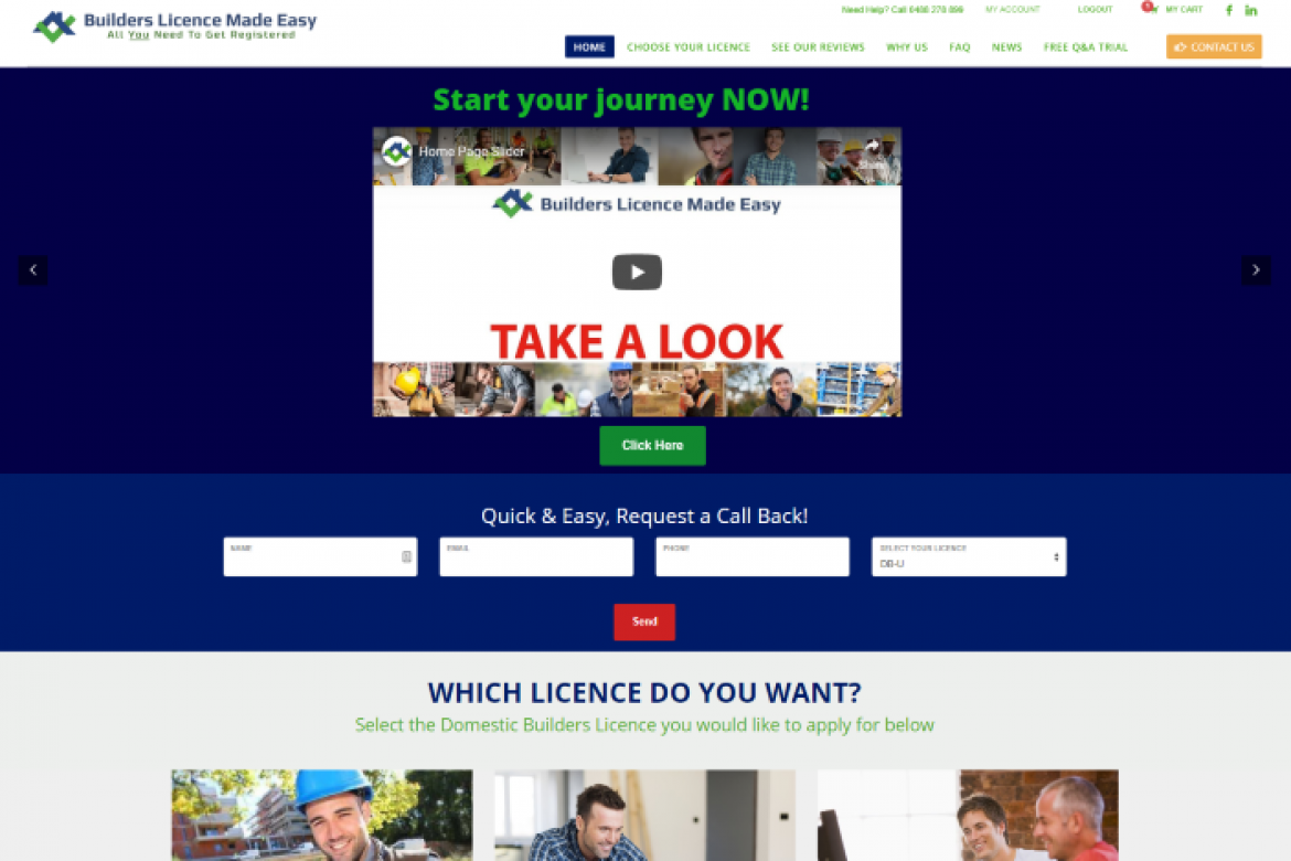 builders licence made easy website wordpress ecommerce (Small)